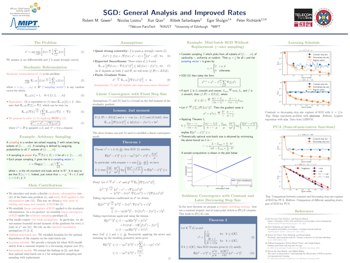 Poster SGD with               arbitrary sampling